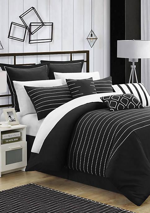 Chic Home Brenton Comforter Set- Black