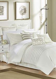 Brenton Comforter Set- Beige