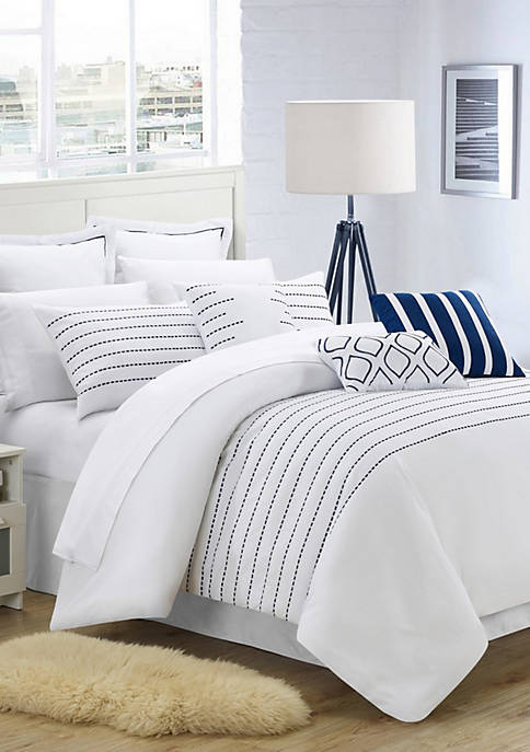 Chic Home Brenton Comforter Set- White