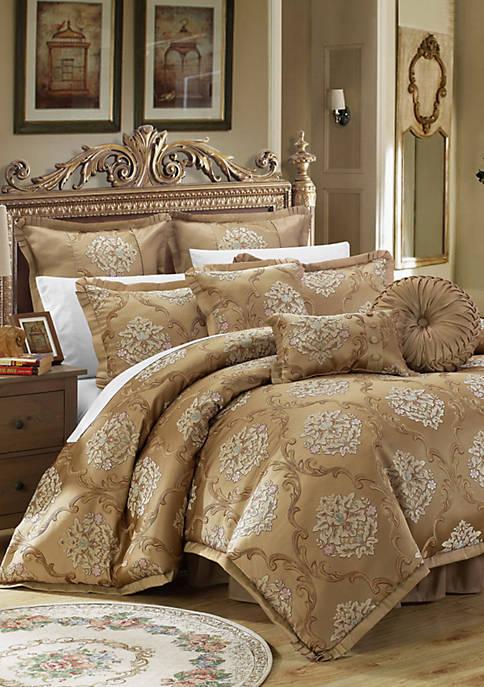 Aubrey 9-Piece Complete Bedding Set - Gold