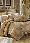 Aubrey 13-Piece Complete Bedding Set with Sheets - Gold
