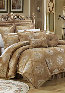 Chic Home Aubrey 13-Piece Complete Bedding Set with Sheets - Gold
