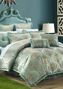 Como 13-Piece Complete Bedding Set with Sheets - Blue