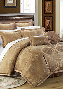 Chic Home Como 13-Piece Complete Bedding Set with Sheets - Gold