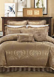 Como 13-Piece Complete Bedding Set with Sheets - Gold