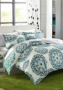 Ibiza 7-Piece Duvet Set- Green