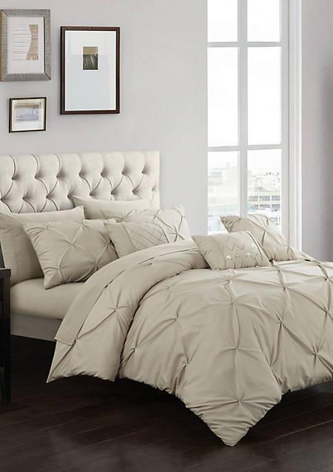 Hannah Comforter Set - Taupe