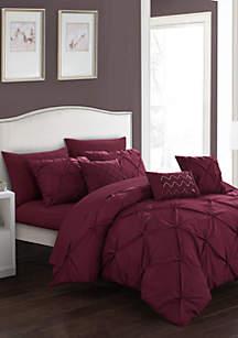 Hannah Comforter Set - Burgundy