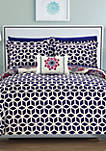 Barcelona Complete Comforter Set with Sheets - Navy