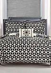 Barcelona Complete Comforter Set with Sheets - Black