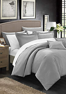 Chic Home Khaya Complete Bedding Set with Sheets - Gray