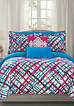 Abstract Bed In a Bag Comforter Set