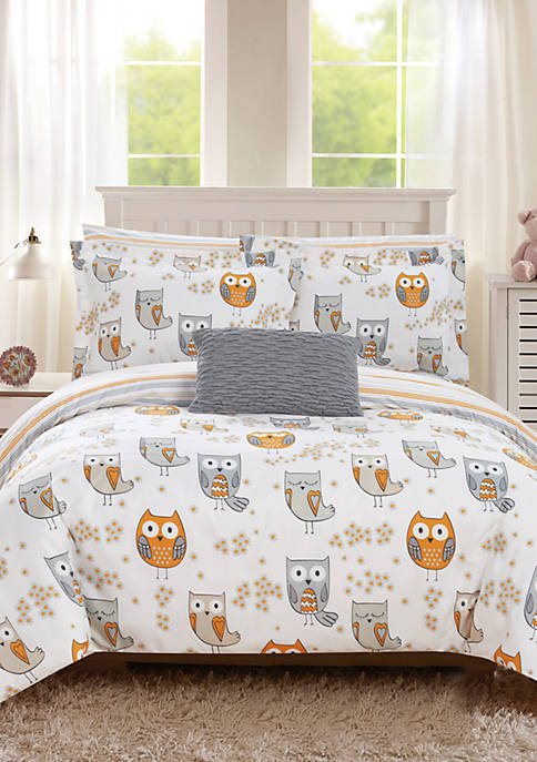 Chic Home Owl Forest Bed In a Bag