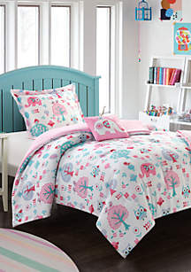 Chic Home Elephant Garden Comforter Set