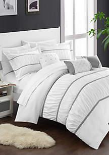 Palermo 7-piece Comforter Set - White
