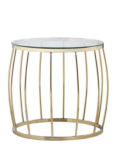 Chic Home Ponte Gold Side Table