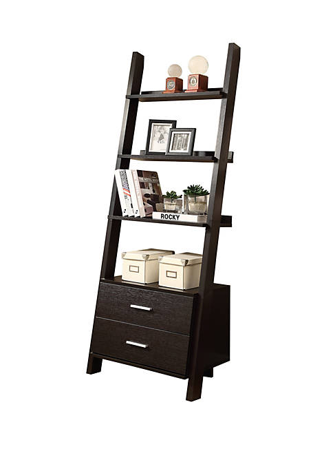 Monarch Specialties Inc. Bookcase Ladder with Storage
