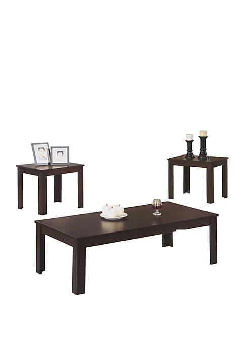 Monarch Specialties Inc. 3 Piece Table Set