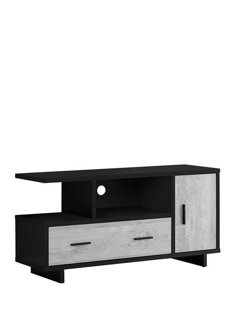Monarch Specialties Inc. Black and Gray Wood-Look TV