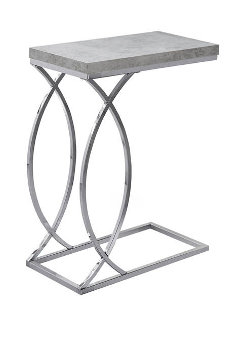 Monarch Specialties Inc. Gray Cement Accent Table