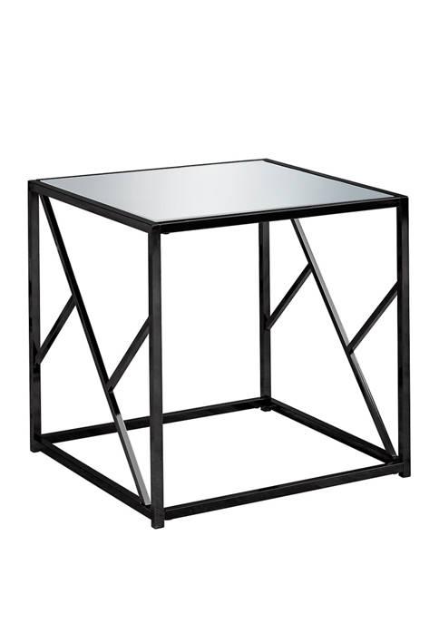 Monarch Specialties Inc. Black Metal End Table