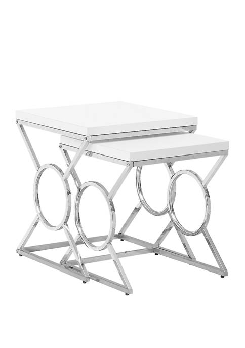 Monarch Specialties Inc. Set of 2 Nesting Tables