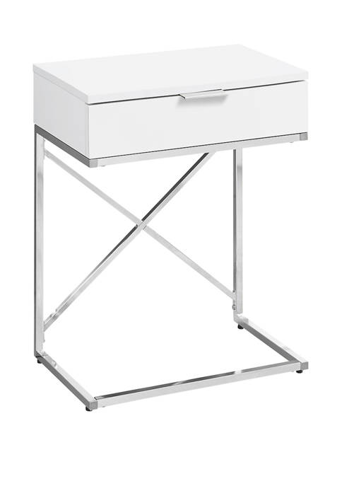 Monarch Specialties Inc. Glossy White Accent Table