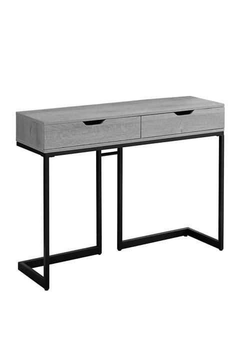 Monarch Specialties Inc. Gray Metal Accent Table