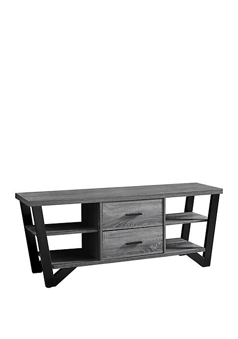 Monarch Specialties Inc. 2 Storage Drawer TV Stand