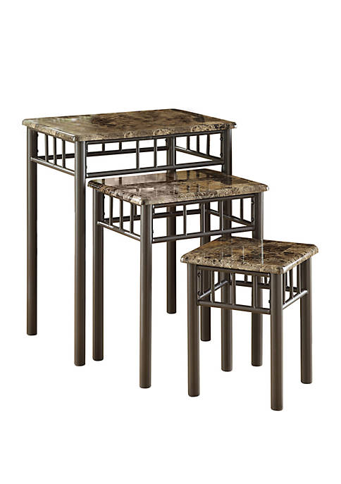 Monarch Specialties Inc. 3 Piece Nesting Table Set