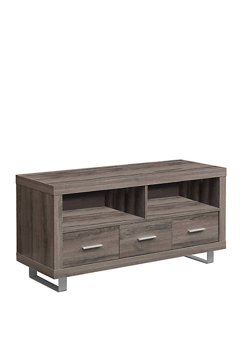 Monarch Specialties Inc. Three Drawer TV Console Table