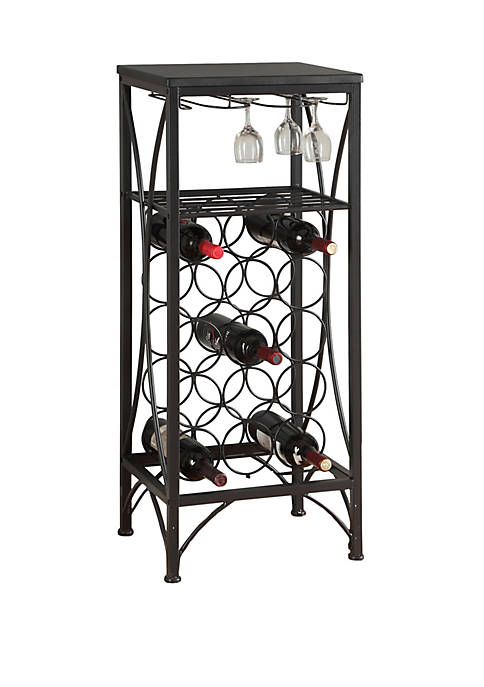 Monarch Specialties Inc. Home Bar with Glass Rack