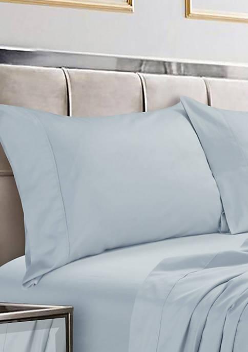 Set of 2 600 Thread Count Egyptian Cotton Sateen Pillowcases