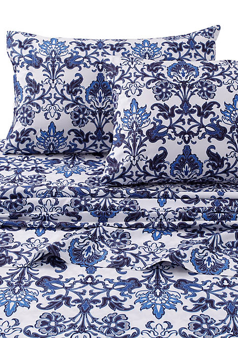 Tribeca Living Catalina Printed 300 Thread Count Extra