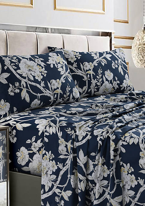 Tribeca Living Colmar Printed Cotton Sateen Extra Deep
