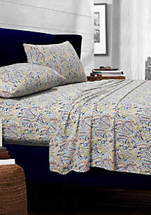 Fiji Paisley Printed Cotton Extra Deep Pocket Sheet Set