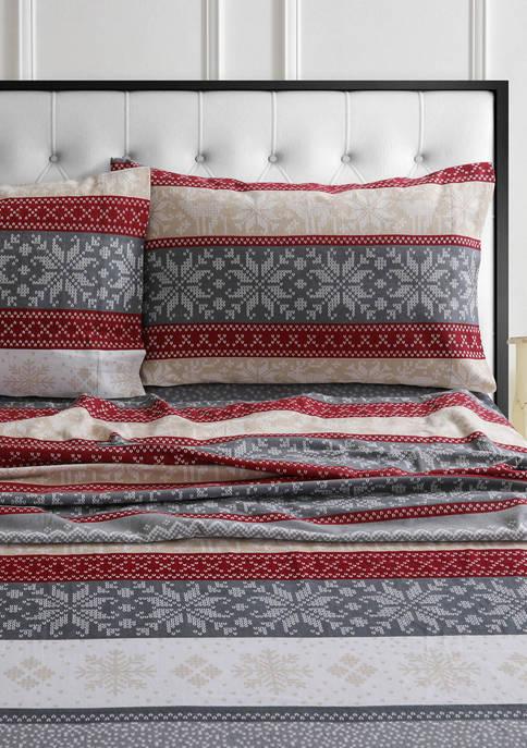 Tribeca Living 170-GSM Cotton Flannel Printed Extra Deep