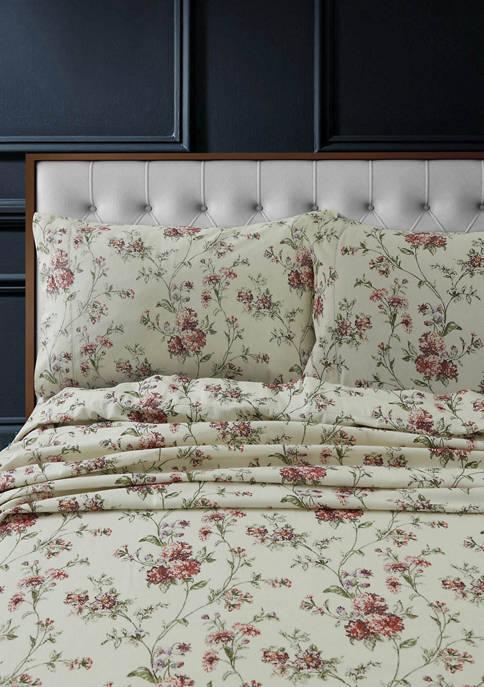 Heavyweight Cotton Flannel Printed Extra Deep Pocket Sheet Set