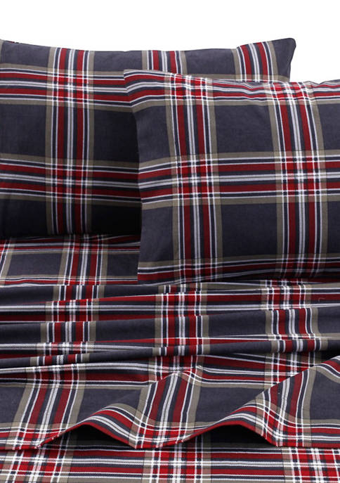 Tribeca Living 5 Ounce Heritage Plaid Flannel Printed