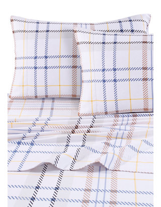 Tribeca Living Modern Plaid Luxury Extra Deep Pocket Flannel Sheet Set Belk