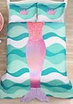 Mermaid Ruffle Comforter Set