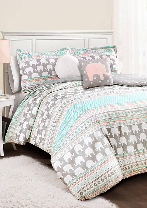 Elephant Stripe Reversible Comforter Set