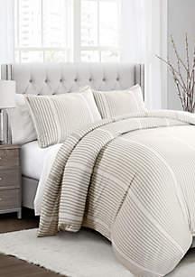 Lush Decor Drew Stripe Reversible Duvet Set
