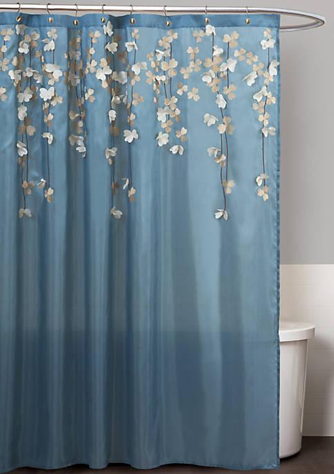 Flower Drops Shower Curtain