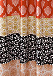 Bohemian Stripe Shower Curtain Turquoise/Orange 72 in x 72 in
