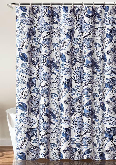 Lush Decor Cynthia Jacobean Shower Curtain