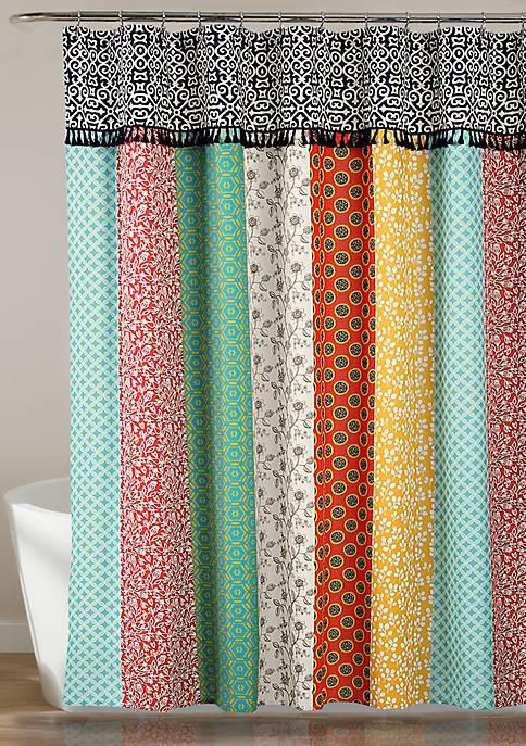 Boho Patch Shower Curtain