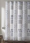 Monique Shower Curtain Blue 72 in x 72 in