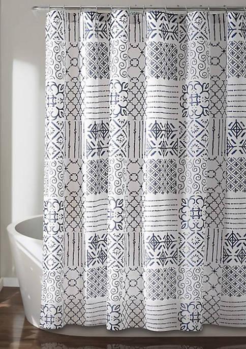 Lush Decor Monique Shower Curtain Blue 72 in
