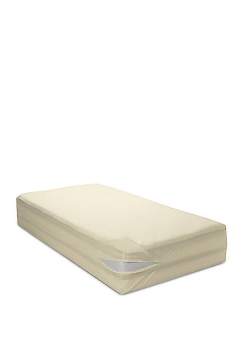 18 in Deep Organic All Cotton Allergy Mattress Cover